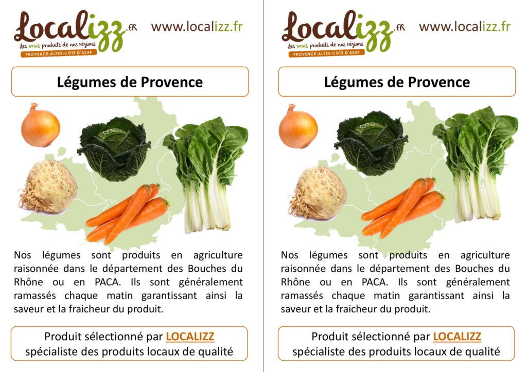 Provenance des légumes de la cantine : légumes de Provence