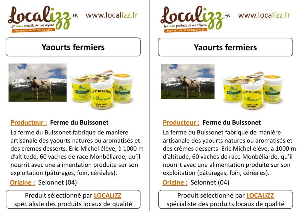 Origine des yaourts fermiers de la cantine