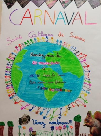 affiche carnaval 2020 de Sainte-Catherine