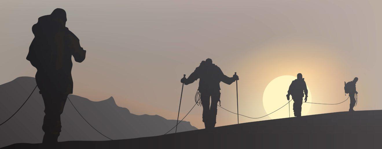 Ascension et cordée